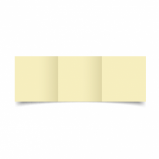 Rich Cream Linen Card Blanks 255gsm-Small Square-Trifold