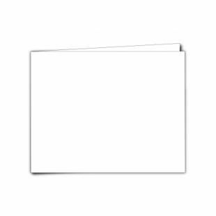 "White Linen Card Blanks 255gsm-5""x7""-Landscape"
