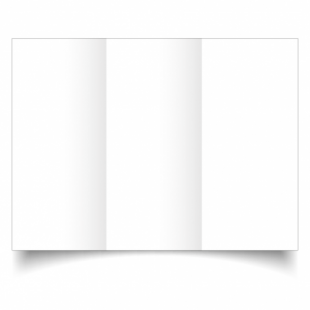White Linen Card Blanks 255gsm-DL-Trifold