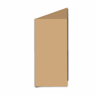 Buff Card Blanks Double Sided 260gsm-DL-Portrait