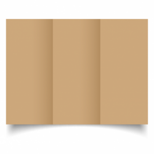 Buff Card Blanks Double Sided 260gsm-DL-Trifold