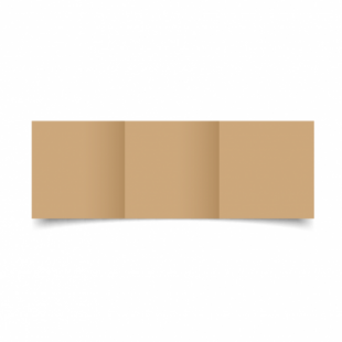 Buff Card Blanks Double Sided 260gsm-Small Square-Trifold