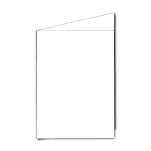 """White Super Smooth Card Blanks Double Sided 250gsm-5""""x7""""-Portrait"""
