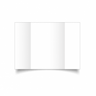 White Super Smooth Card Blanks Double Sided 300gsm-A5-Gatefold