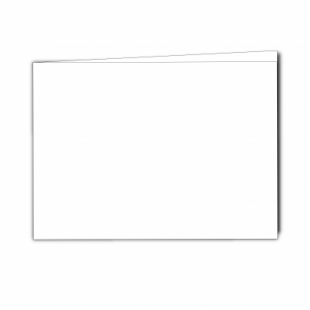 White Super Smooth Card Blanks Double Sided 250gsm-A5-Landscape