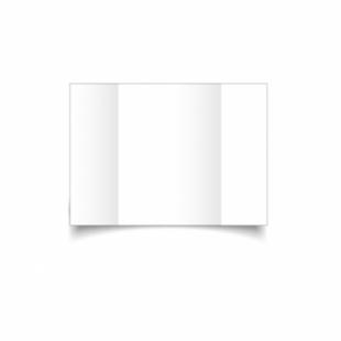 White Super Smooth Card Blanks Double Sided 300gsm-A6-Gatefold