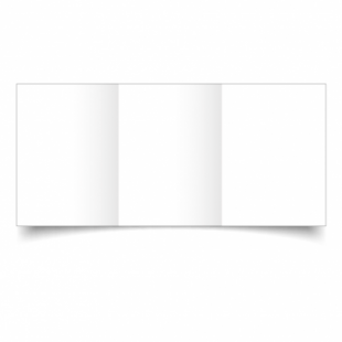 White Super Smooth Card Blanks Double Sided 300gsm-A6-Trifold