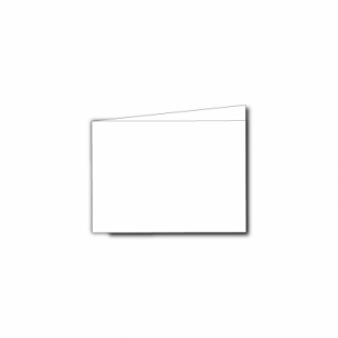 White Super Smooth Card Blanks Double Sided 300gsm-A7-Landscape