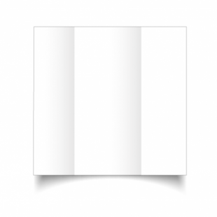 White Super Smooth Card Blanks Double Sided 300gsm-DL-Gatefold