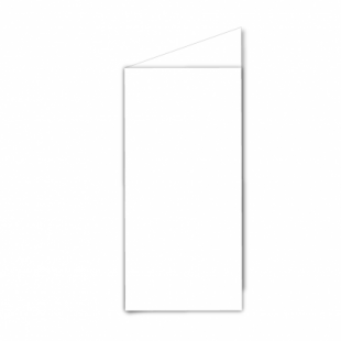 White Card Blanks Double Sided 250gsm-DL-Portrait