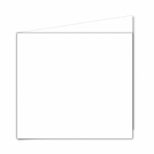 White Super Smooth Card Blanks Double Sided 250gsm-Large Square-Portrait