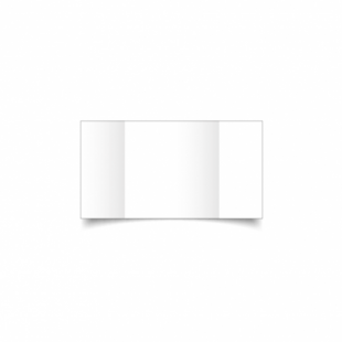 White Super Smooth Card Blanks Double Sided 300gsm-Small Square-Gatefold