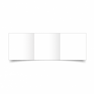 White Super Smooth Card Blanks Double Sided 300gsm-Small Square-Trifold
