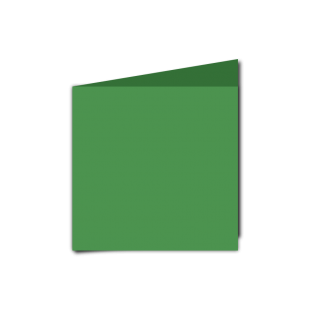 Emerald Green Card Blanks Double sided 290gsm-Small Square-Portrait