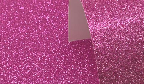 Cerise Pink Glitter Card 220gsm