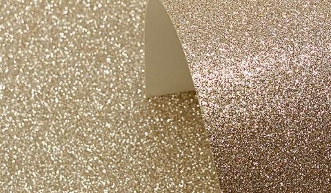 Champagne Glitter Card 220gsm