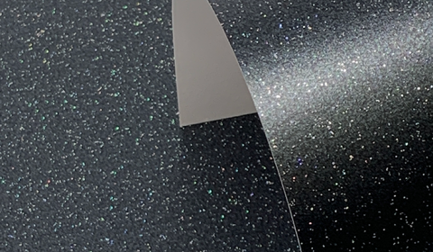 Charcoal Black Pure Sparkle Card Blanks One Sided 300gsm