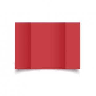A5 Gatefold Christmas Red Card Blanks