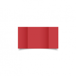 Small Square Gatefold Christmas Red Card Blanks