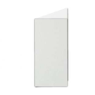 DL Natural White Pearlised Card Blanks