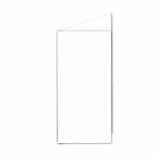 DL White Plain Card Blanks