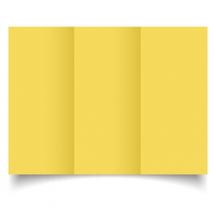 DL Trifold Daffodil Yellow Card Blanks