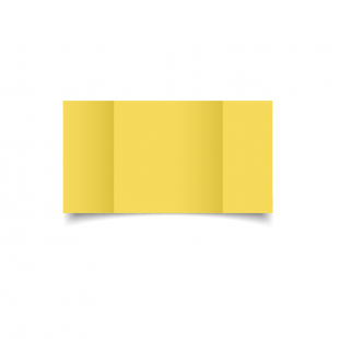 Large Square Gatefold Daffodil Yellow Card Blanks