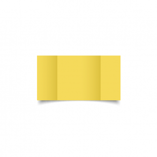 Small Square Gatefold Daffodil Yellow Card Blanks