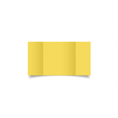 Daffodil Yellow Small Square Gate Fold Card Blank 01