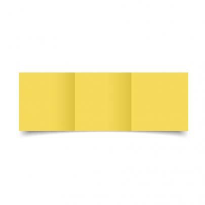 Daffodil Yellow Small Square Tri Fold Card Blank 01