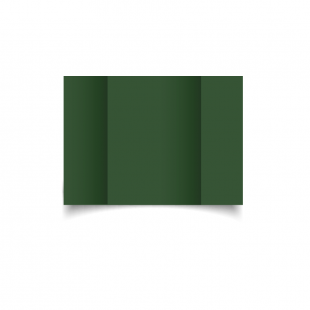 A6 Gatefold Dark Green Card Blanks