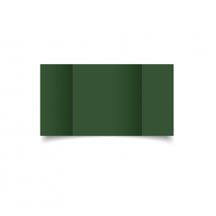 Large Square Gatefold Dark Green Card Blanks