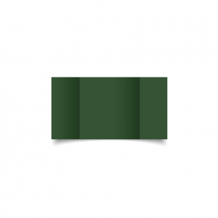 Small Square Gatefold Dark Green Card Blanks