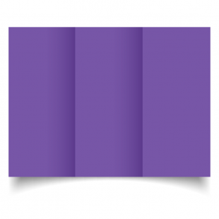 DL Trifold Dark Violet Card Blanks