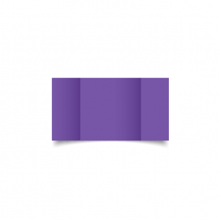 Small Square Gatefold Dark Violet Card Blanks