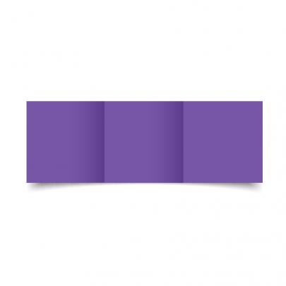 Dark Violet Small Square Tri Fold Card Blank 01