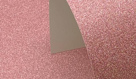 Flamingo Pink Non-Shedding Glitter Card 285gsm