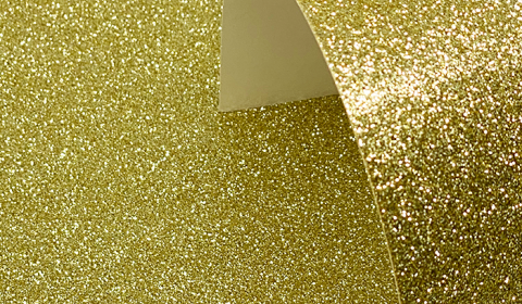 Gold Glitter Card 220gsm
