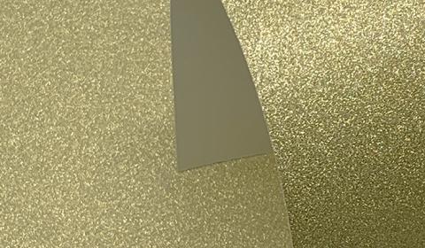 Gold Non-Shedding Glitter Card 285gsm