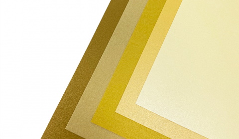 """Golden Pearlised Mixed Card Pack 12"""" x 12""""   5 Sheets"""