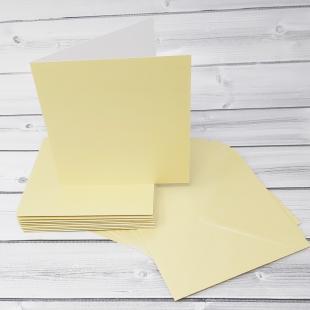 Grape Green 148mm Square Card Blanks & Envelopes - Pack of 10