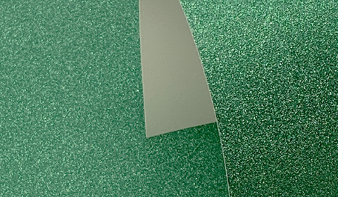 Green Non-Shedding Glitter Card 285gsm