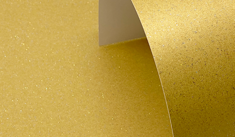 Harvest Gold Pure Sparkle Card Blanks One Sided 300gsm