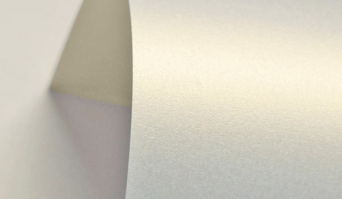 Gold White Pure Pearl Double Sided Card 300gsm