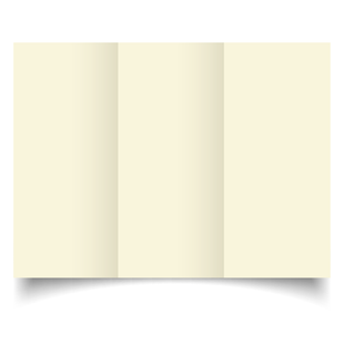 DL Trifold Ivory Hammered Card Blanks