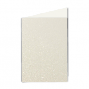 "5"" x 7"" Ivory Pearlised Card Blanks"