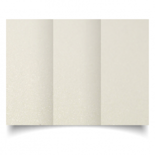 DL Trifold Ivory Pearlised Card Blanks