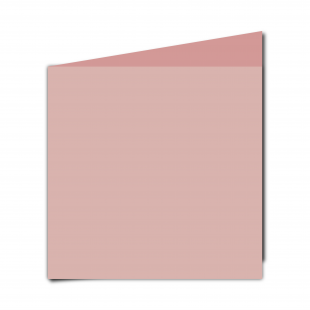 Large Square Baby Pink Card Blanks
