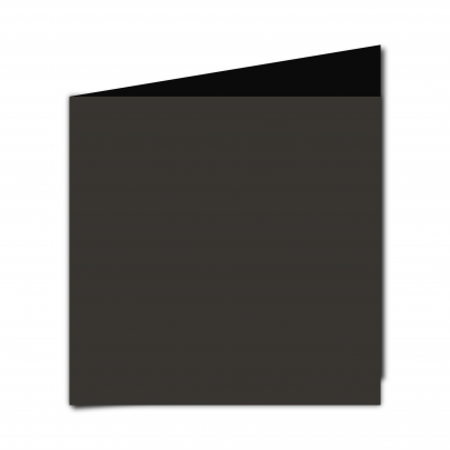 Large  Square  Card  Blank  Black  Smooth
