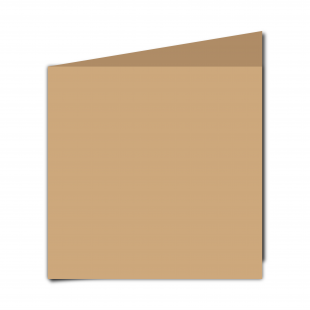 Large Square Buff Card Blanks